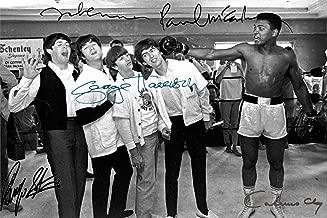Beatles Muhammad Ali Autograph Replica Super Print - Knockout - Landscape - Unframed