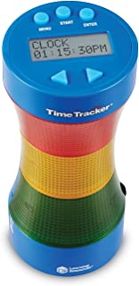 Learning Resources Time Tracker Visual Timer & Clock, Classroom Tracker, Ages 5+ - Blue