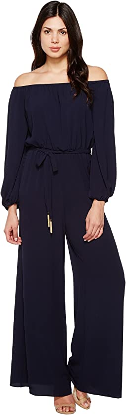 133d49158ed Vince camuto jumpsuit with mesh detail at back at 6pm.com
