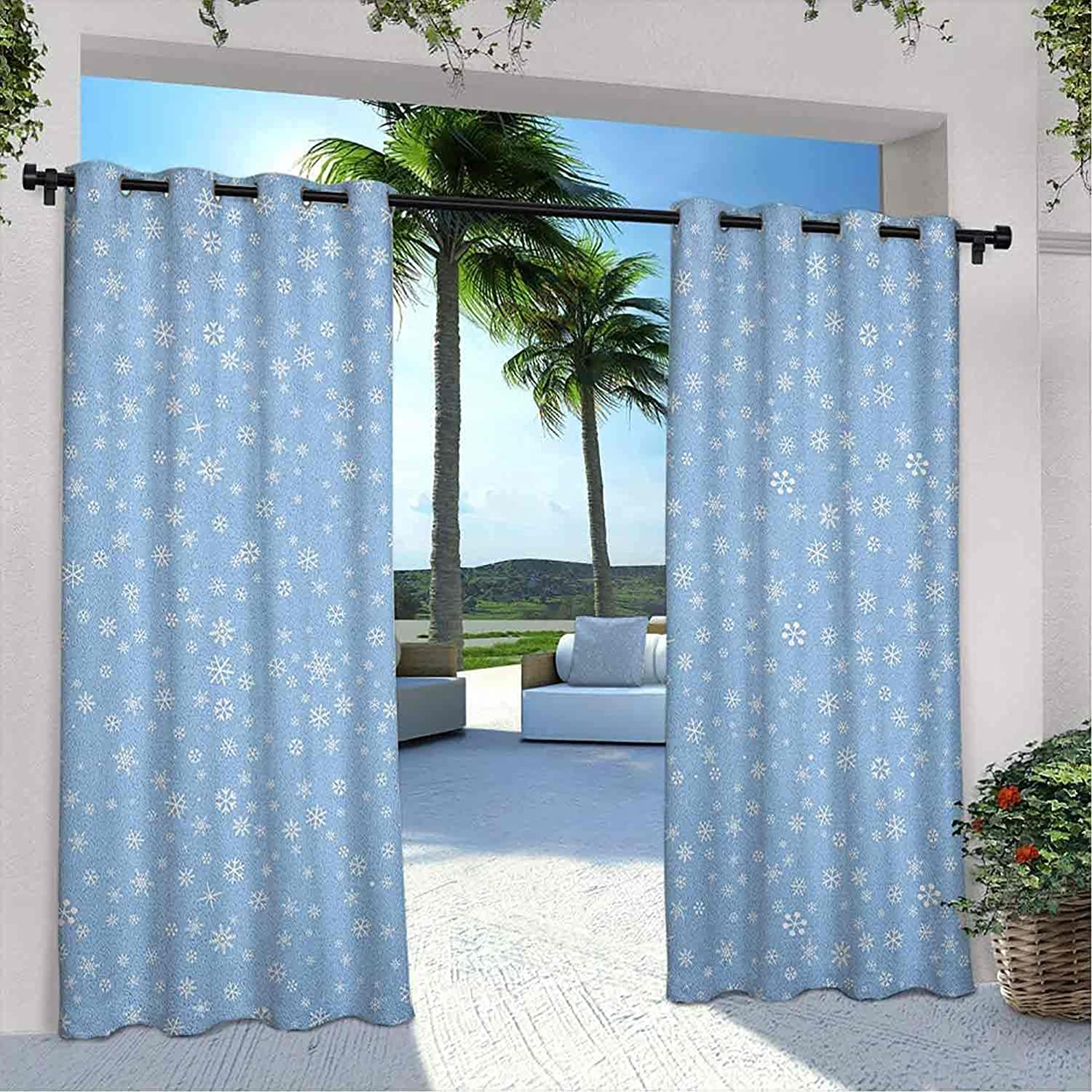 Outdoor Privacy Winter Curtain Cute Snowflakes Falling Brand Cheap Sale Venue Very popular f Little