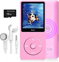 $21 » MP3 Player, Music Player with 16GB Micro SD Card, Build-in Speaker/Photo/Video Play/FM Radio/Voice Recorder/E-Book Reader,...