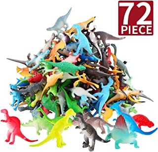 Toys Gift for 3-8 Year Old Boys, Mini Dinosaur Jurassic World Toy Party Supplies Favors for Kids Boys Girls Birthday Gifts Party Favors Supplies for Kids Prizes Box Bulk Toy for Classroom Cake Topper