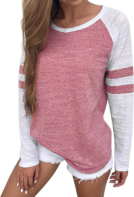 Womens Stripe Long Sleeve Sweatshirt Crewneck Hoodie Coat Jacket Fashion Sweaters Blouse Tops