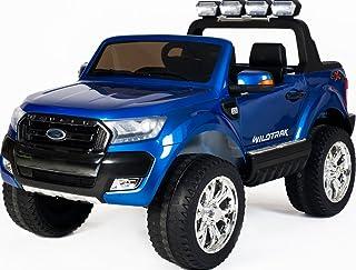 電動乗用ラジコンカー【FORD RANGER DX-4WD】フォード レンジャー デラックス NEWモデル 4WD駆動 12V10Ahバッテリー【RC/乗用玩具/電動ラジコン】 (ブルー)