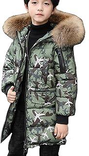 SANKU ボーイズ ダウンコート ダウンジャケット フード付き ロング丈 中綿 コート ジャケット 暖かい 人気 かっこいい 冬 おしゃれ パーカー アウター 男の子 綿服 子供服 キッズ 防寒着 防風 トレンチコート