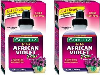 Schultz African Violet Plus Plant Food 8-14-9, 4 fl oz. [2-Pack]