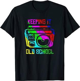 Keeping It Old School 80s 90s Boombox T Shirt Retro Music