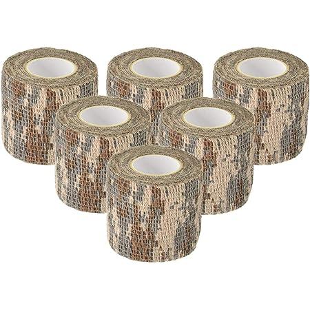 PRETYZOOM 2 St/ück Camouflage Tape Roll Selbstklebende Jagd Camouflage Wrap Stretch Elastische Zusammenh/ängende Bandage Fahrrad Bogenschie/ßen Bogen Aufkleber Stil a