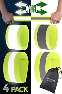 Safety Reflective Bands for Arms and Legs - Night Reflective Gear for Runners
