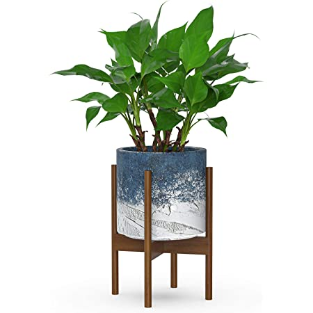 US STOCK Fit 10.5/'/' Plant Stand Wooden Mid Century Planter Stand,16/'/' Tall