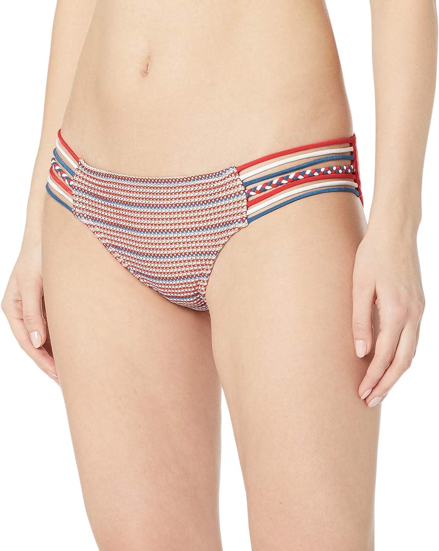 Luli Fama Women's Standard American Dream Braided Side Full Bikini Bottom