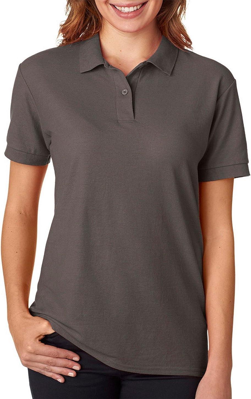 Gildan womens DryBlend 6.3 oz. Double Pique Sport Shirt(G728L)-CHARCOAL-2XL