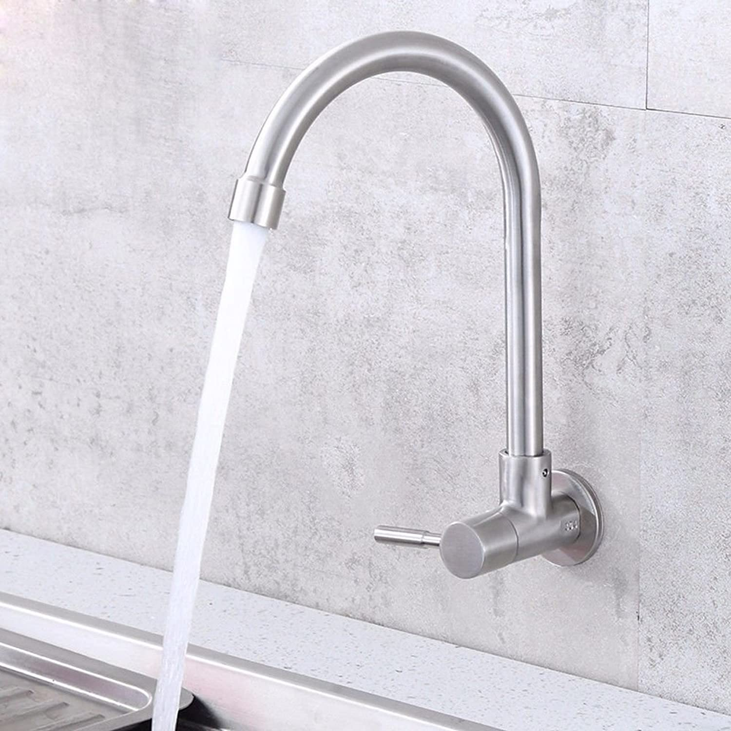 Lpophy Bathroom Sink Mixer Taps Faucet Bath Waterfall Cold and Hot Water Tap for Washroom Bathroom and Kitchen Stainless Steel Wall-Mounted Wall Single Cold