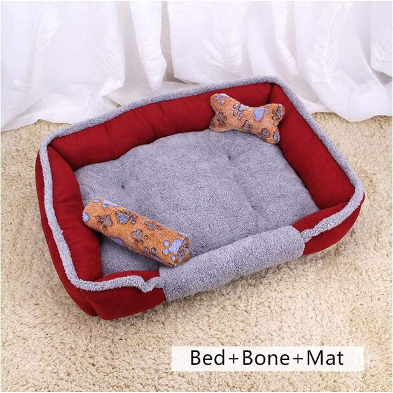 Fine joy Dog Beds Sofas Pillow Mats Pat Summer Mat for Teddy Dog Cat Kennel House Cotton Coral Fleece Pets Animal Beds Blanket