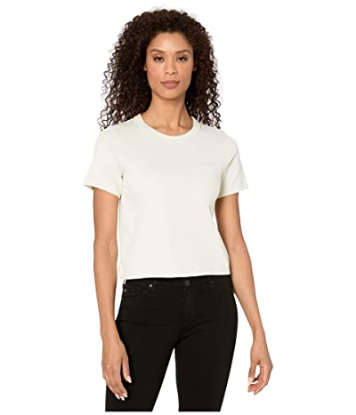 Alternative Heavyweight Recycled Cotton Cropped Pocket Tee (Ecru) Women