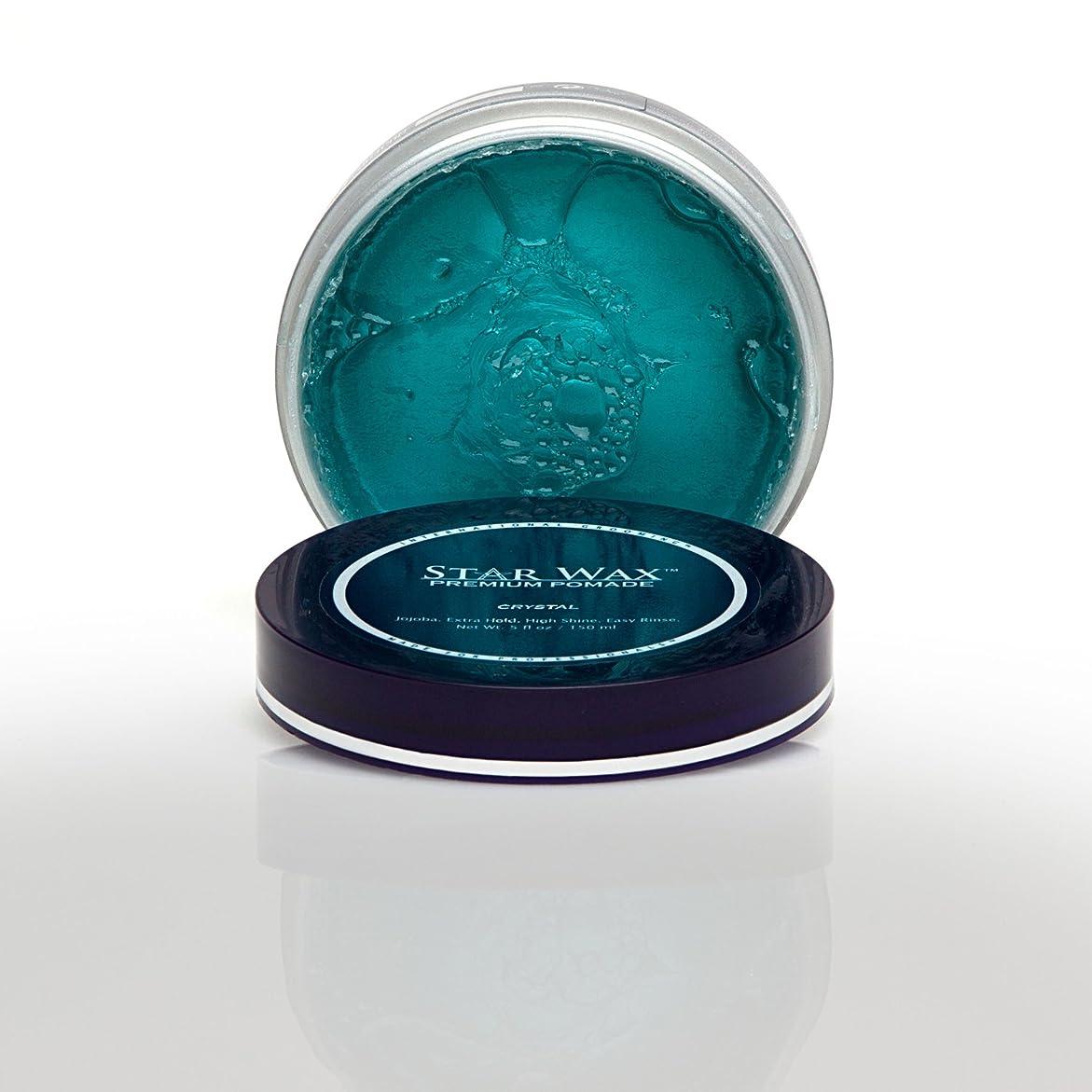 慣習標高作動するStar Wax | Premium Pomade, Crystal(スターワックスプレミアム ポマード「クリスタル」)?Star Pro Line(スタープロライン)製?5(液量)オンス/150ml