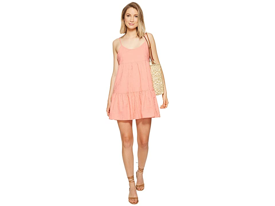 BB Dakota Kendra Embroidered Dress (Grapefruit) Women