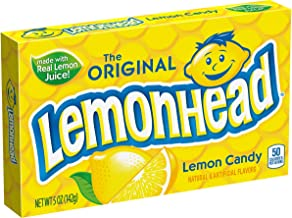 Lemonhead Hard Candy, Lemon, 5 Ounce Theatre Box, 12 pack
