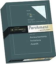 Southworth Parchment Specilaty Paper, 8.5 x 11 inches, 24 lb, Blue, 500 per Box (964C)