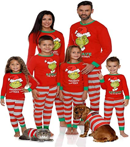 HHYSPA Family Xmas Pajamas Set Boys Girls Holiday Pjs Women ...