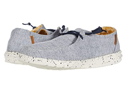 Hey Dude Wendy Chambray (White/Blue) Women