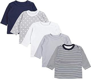 Baby Langarm T-Shirt Baumwolle Rundhals mit//ohne Namensdruck 3-24 Monate BZ11