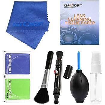 K&F Concept カメラクリーニングキット カメラクリーニング用品 7点セット クリーニングペン+ブロアー+クリーニングペーパー+クリーニングクロス+スプレーボトル+ドライワイプ+ ブラシ一眼レフカメラや精密電子機器に対応