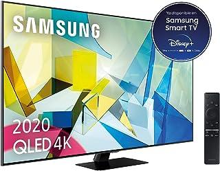 """Samsung QLED 2020 65Q80T - Smart TV de 65"""" 4K UHD, Direct Full Array HDR 1500, Inteligencia Artificial, HDR 10+, Ambient M..."""