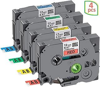 18 mm x 8 m 3 rotoli TZe TZ S241 cassette TZeS241 TZS241 extra resistente nero su bianco laminato autoadesivo NineLeaf compatibile con Brother P-Touch PT-D400 PT-D450 ST-1150