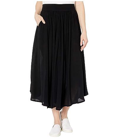 Tribal Long Circular Skirt with Pockets (Black) Women