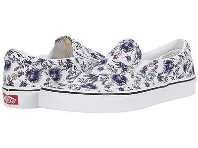 Vans Classic Slip-On ((Paradise Floral) True White/True White) Skate Shoes
