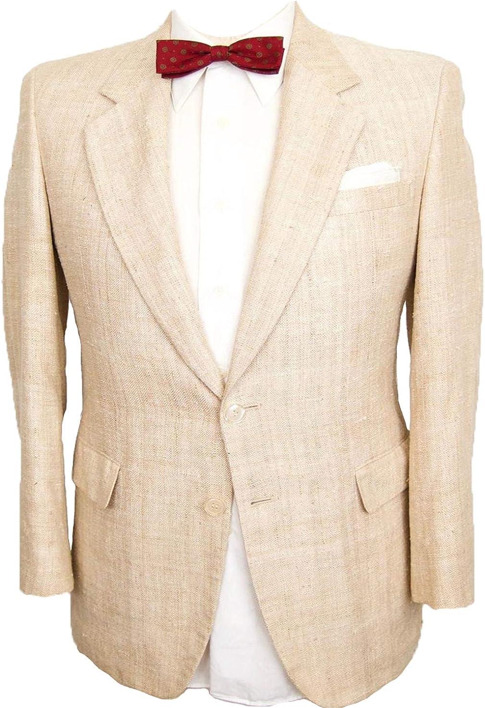 Men's Suit Blazer Linen Cotton Regular Fit Notched Lapel Two Buttons Summer Wear