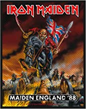Iron Maiden Patch Maiden England 88 Trooper Official Black Woven (10Cm X 7Cm)