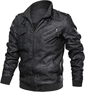 Men's New Real Soft Leather Black Brown Casual Motorcycle Style Jacket
