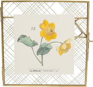 J.C. and Rollie Pressed Glass Brass Frame - 5