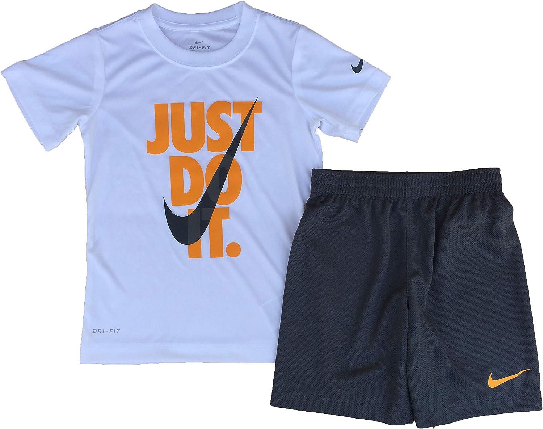 Nike Boy's Dri-FIT Just Do It Graphic T-Shirt & Shorts Two-Piece Set (Little Kids)