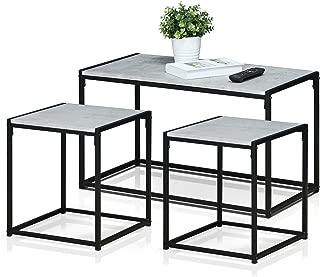Furinno Modern Living Room Set, Stone White