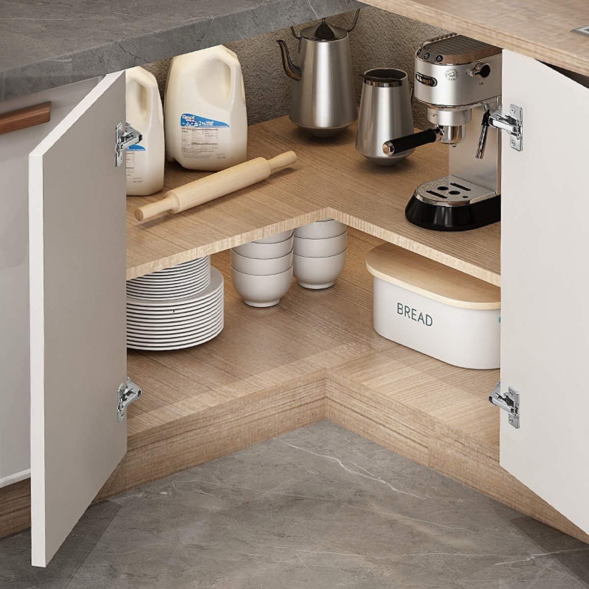Buy 1 Pair 2pcs European Style Hidden Concealed 165 Degree Corner Kitchen Cabinet Door Hinges Full Overlay Soft Closing Online In Indonesia B01ddg24uq