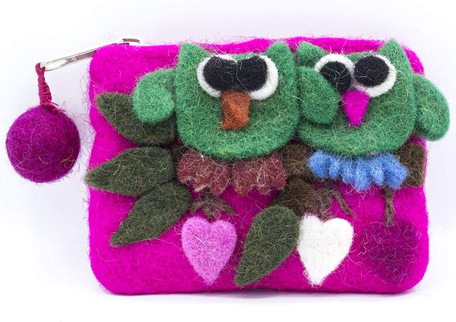 Coin Purse Pouch Wallet Owl Funny Cute Handmade Unique