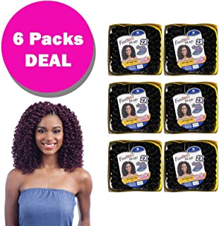 SOFT BABY CURL (6 Pack, 1B Jet Black) - FreeTress Synthetic Hair 2X Wand Curl Crochet Braid