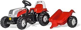 Rolly Toys 012510 - rollyKid Steyr 6165 CVT Trettraktor mit Anhänger, für Kinder ab 2,5 Jahre, Flüsterlaufreifen, Überrollbügel
