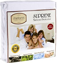 Mellanni Premium Waterproof Mattress Protector - Dust Mite, Bacteria Resistant - Hypoallergenic - Fitted Deep Pocket - Better Than Pads, Covers or Toppers (Cal King)