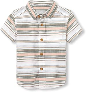 The Children's Place Baby Boys' Short Sleeve Button-up Shirt
