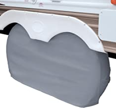 Classic Accessories OverDrive RV Dual Axle Wheel Cover, Grey, Small