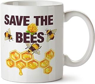d60f8f3a8eb Save the Bees Earth Day Gardener Gift Coffee Mug 11 oz. Beekeeper