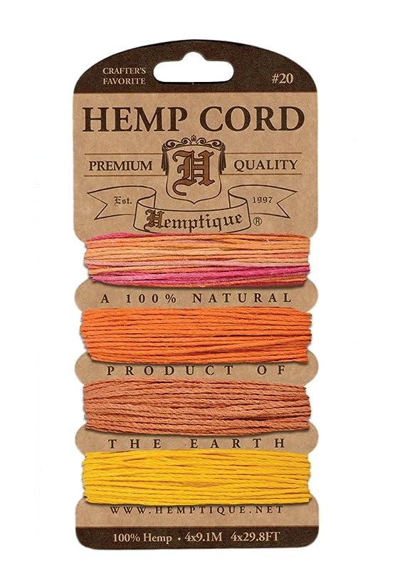 Hemptique H20-SG Hemp Cord Card 20 - Sun Glow