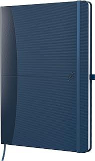 Oxford Cuaderno Signature A5 cuadriculado 80 hojas 90 g/m² azul con superficie de goma SCRIBZEE ...