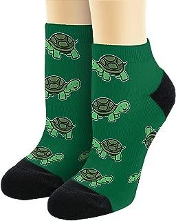 Unisex Novelty Socks Happy Turtle Socks Turtle Themed Gifts for Turtle Lovers Novelty Ankle Socks