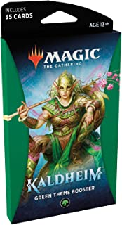 Magic The Gathering: Kaldheim  35 cards, all based on a theme   Theme Booster Verde Unitário - Inglês