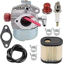 Wellsking 640350 640303 Carburetor + Air Filter Spark Plug for Toro 20016 20017 20018 Recycler Tecumseh LEV100 LEV105 LEV120 LV195EA LV195XA Lawn Mower